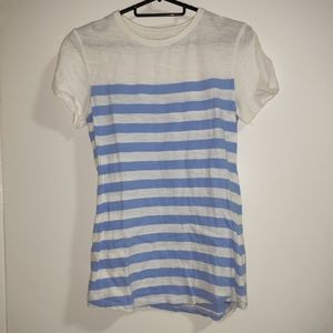 Cotton On Striped White and Blue T-Shirt